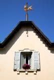 Brique de béton de l'Italie de palais de Varèse de fenêtre de Venegono Photos stock