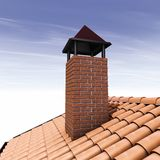 Brique de cheminée Images libres de droits
