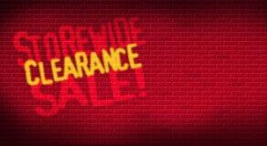 Brique de liquidation de Storewide Photographie stock libre de droits