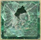 Brique en verre brisée Photos libres de droits