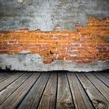 Brique enlevée de stuc Photo stock