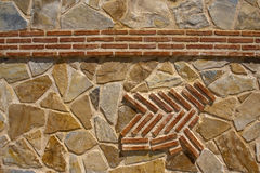 Brique et mur en pierre Image stock