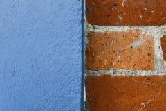 Brique et texture bleue de mur Image libre de droits