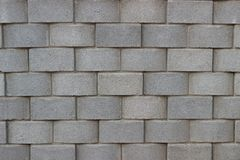 Brique grise de bloc de pierre de mur de modèle de fond photographie stock