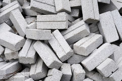 Brique grise inutilisée Images stock