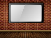 Brique, mur, affichage à cristaux liquides (hublot) Photographie stock libre de droits