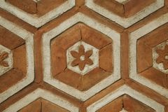 Brique orange octogonale Image libre de droits