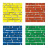 Brique peinte Mur de briques Fond Vecteur illustration de vecteur