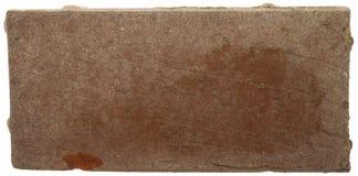 Brique rouge avec l'efflorescence Photo stock