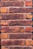 Brique rouge et pilier Photo stock