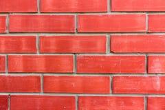Brique rouge neuve Images stock