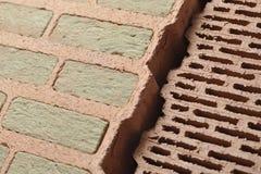 Briques avec l'isolation  Photographie stock