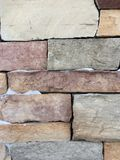 Briques avec la neige image libre de droits
