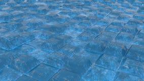 Briques bleues scrached infinies illustration de vecteur