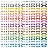 Briques colorées simples de jouet de brique d'enfants d'isolement sur le fond blanc Spectre de couleur grand paquet de briques To Photo libre de droits