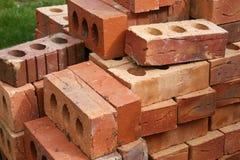 Briques communes de construction Photos stock