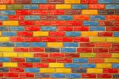 Briques d'anniversaire image stock