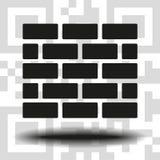 Briques d'icône de vecteur illustration libre de droits
