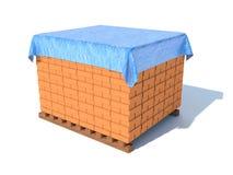 Briques, d'isolement sur le blanc illustration stock