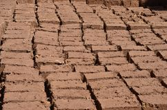 Briques dans la fabrication Photos libres de droits