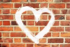 Briques de coeur Images stock