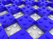 Briques de jouet dans la couleur bleue et blanche illustration libre de droits