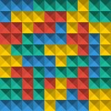 Briques de pixel de Tetris de jeu Fond sans couture de modèle Fond de jeu de Colorfull illustration de vecteur