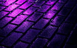 Briques de rue en couleurs Photographie stock