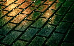 Briques de rue en couleurs Image stock