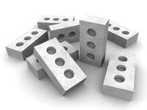 Briques de silicate sur une surface blanche illustration libre de droits