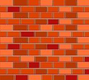 briques de texture de fond de modèle rouge-brun illustration libre de droits