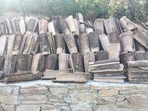 Briques de toit Photo libre de droits