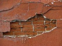 Briques derrière le mur Photo libre de droits
