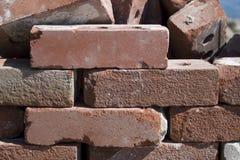 Briques empilées Photographie stock