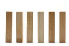 Briques en bois Photos stock