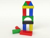 Briques en bois de bâtiment Image libre de droits