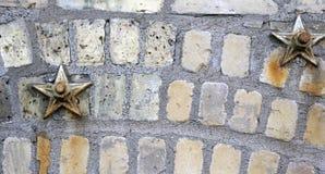 Briques et étoiles Photos stock