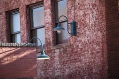 briques et lumières de ville Image libre de droits