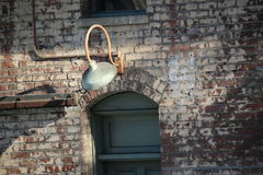 briques et lumières de ville Photo libre de droits