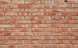 Briques fond et textures sur le mur Fissures pauvres de brique Dommages de fentes brouillons photo libre de droits