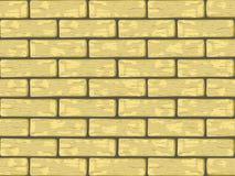 Briques jaunes Photographie stock libre de droits