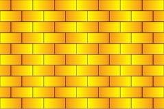 Briques jaunes - modèle de vecteur illustration stock