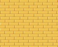 Briques jaunes, texture de fond Photographie stock