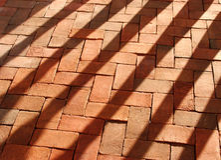 Briques ombragées Images libres de droits