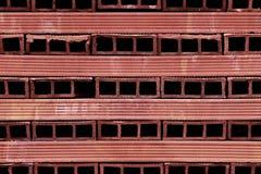 Briques perforées de terre cuite Photo libre de droits