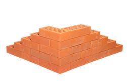 Briques rouges Photographie stock