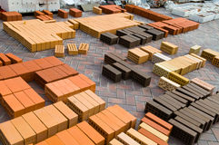 Briques rouges de construction Image libre de droits