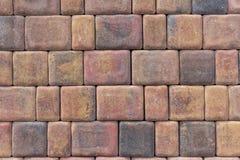 Briques rouges/fin mur en pierre  Photographie stock