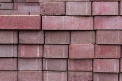 Briques rouges/pierres empilées Images libres de droits
