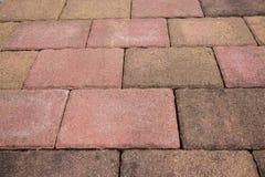 briques rouges/plancher de pierre Images libres de droits
